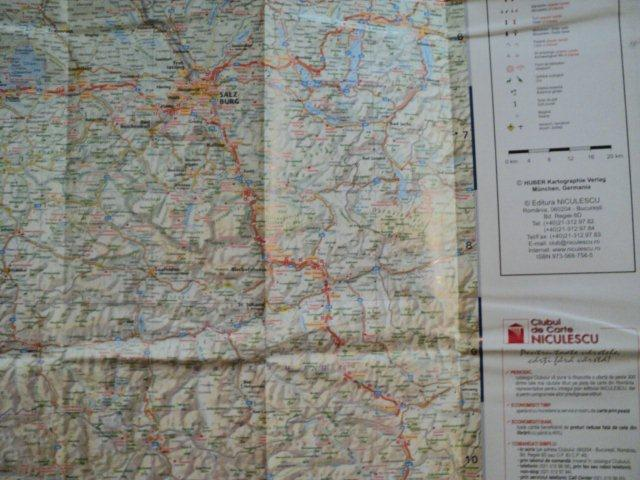 Austria Harta Turistica Si Rutiera