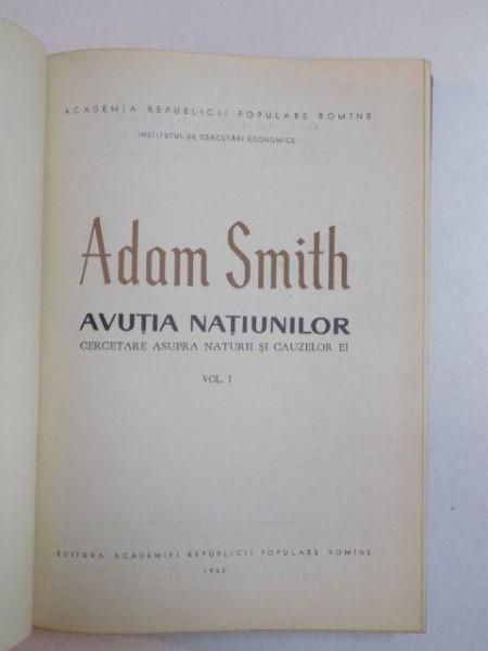 adam smith avutia natiunilor