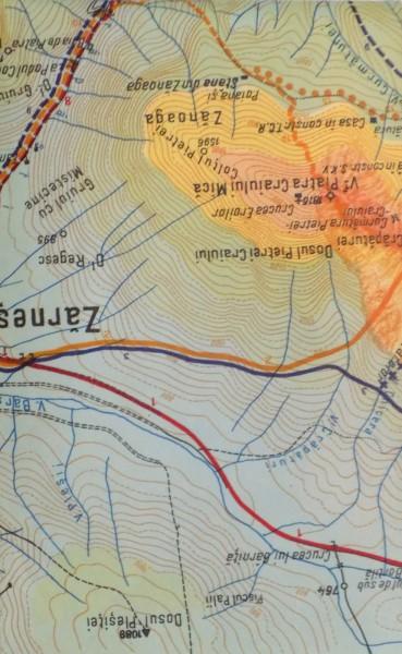 Harta Turistica A Masivelor Piatra Craiului Zarnesti Bran Rucar